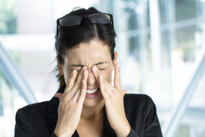 Woman stressed out may affect dental health